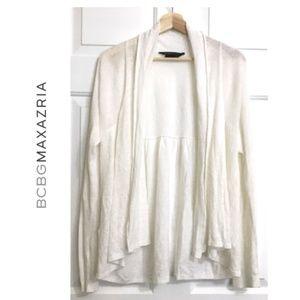 BCBGMAXAZRIA Linen Long Sleeves Cardigan Sweater